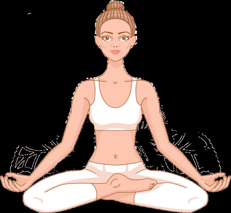 девушка медитация